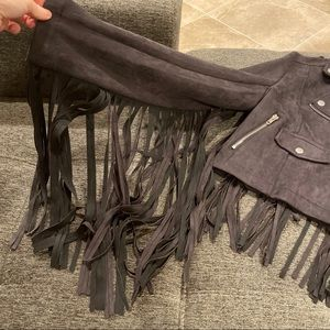 Missguided Jackets & Coats - Missguided suede fringe jacket🖤